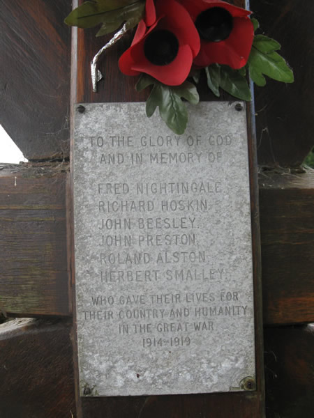 Lych gate memorial at Tockholes