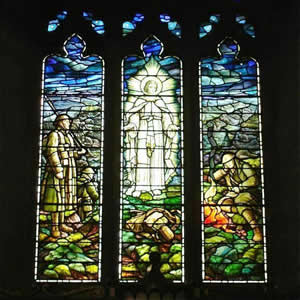 War Memorial Window, Kettlewell Church